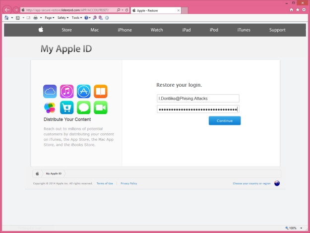 Phishing Site Login Form