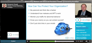 How to Stop Malware and Advanced Persistent Threats I