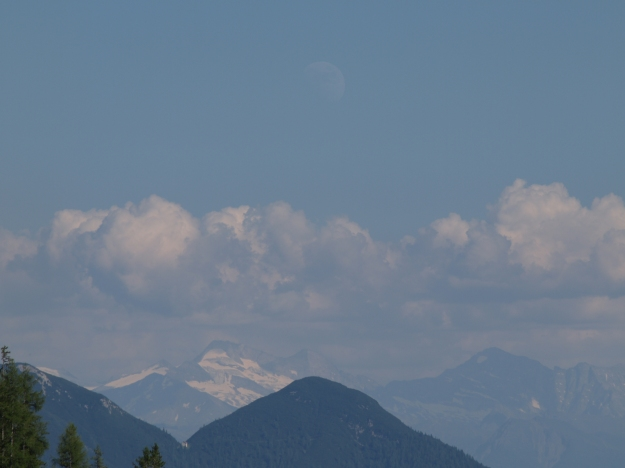 "Moon over Wangalm, Austria. 47°22'54.1""N 11°06'35.4""E"