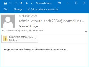 Email with Locky Attachment