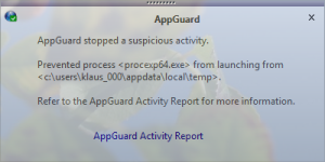 AppGuard Blocks Process Explorer