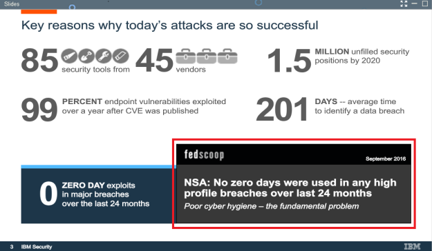 Slide 3 - Force the Bad Guys to Use Zero Day Exploits — and Why That's a Good Thing