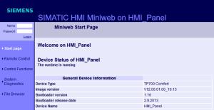 SIMATIC HMI Panel