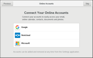 Linux Setup Online Accounts