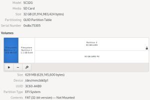 Fedora32 EFI Partion